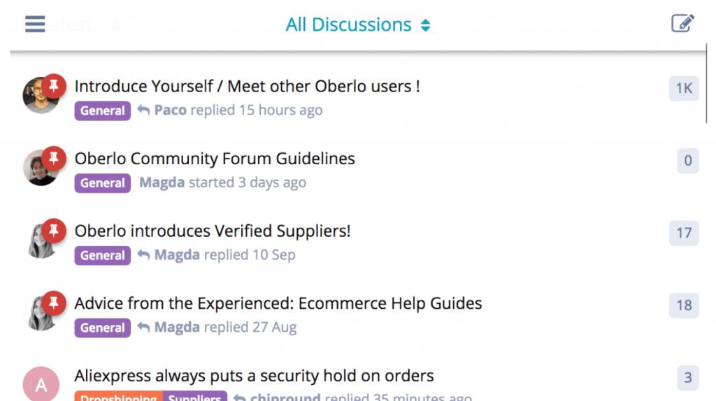 oberlo forum