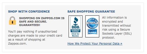 Zappos Security Bagdes