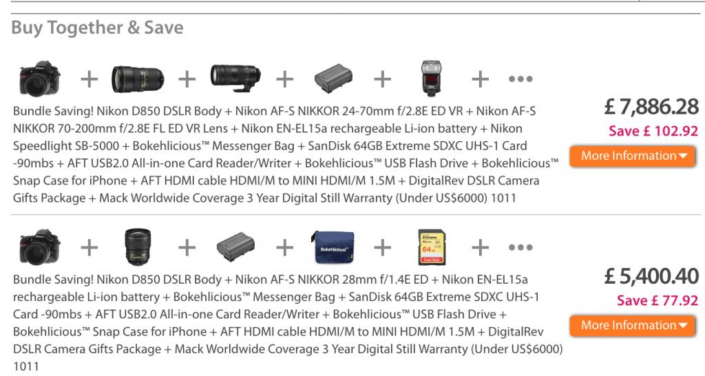 e-commerce product bundle