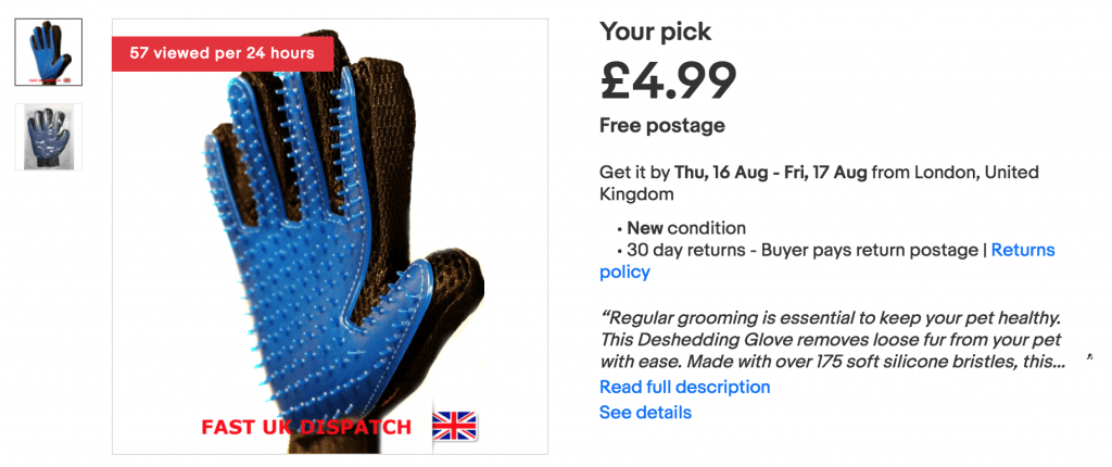 dog glove grooming