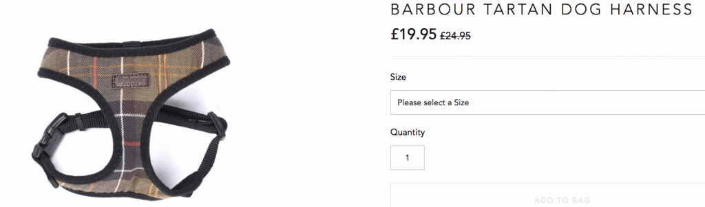 Dog Harness Barbour