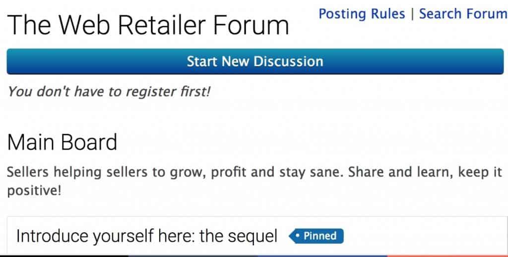 webretailer forum