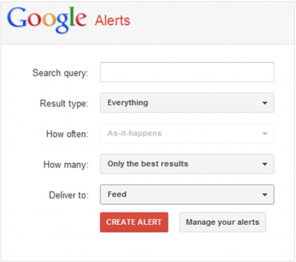 Competitive Intelligence Tools Google Alerts