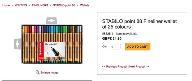 Stabilo E-Commerce Owned Site