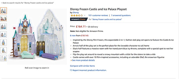 Disney Frozen Castle Amazon