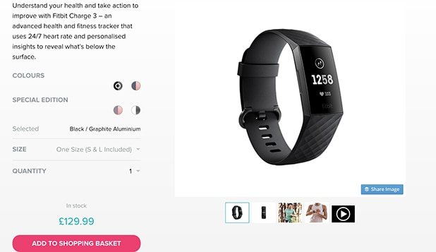 Fitbit Product Page