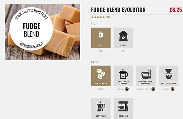 Online Coffee Selling Product Page