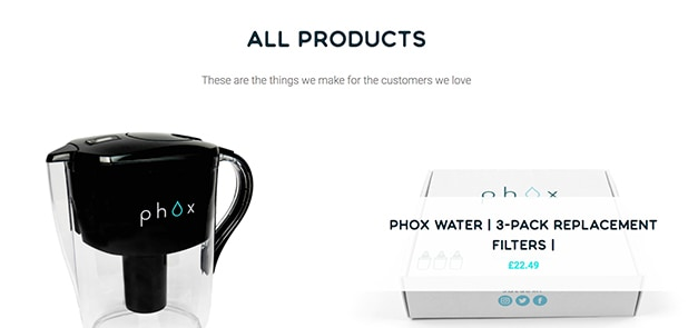 Water Filter Product Page