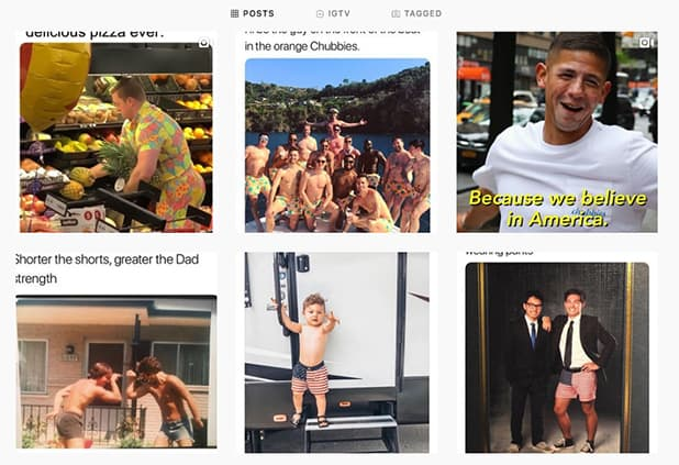 Chubbies Instagram Posts