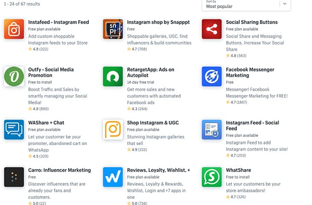 Shopify Social Media Marketing Tools