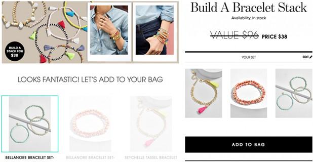 BaubleBar Customized Bundle Strategy Bracelet Example