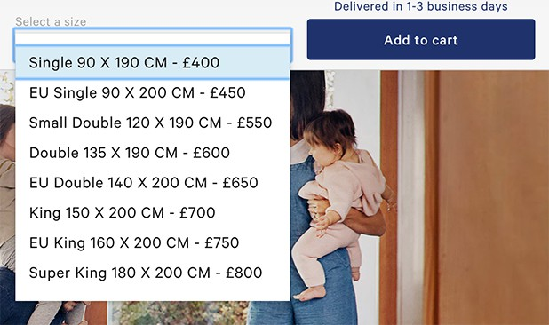 Caspers' Mattress Pricing