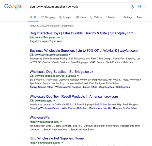 Finding E-Commerce Supplier