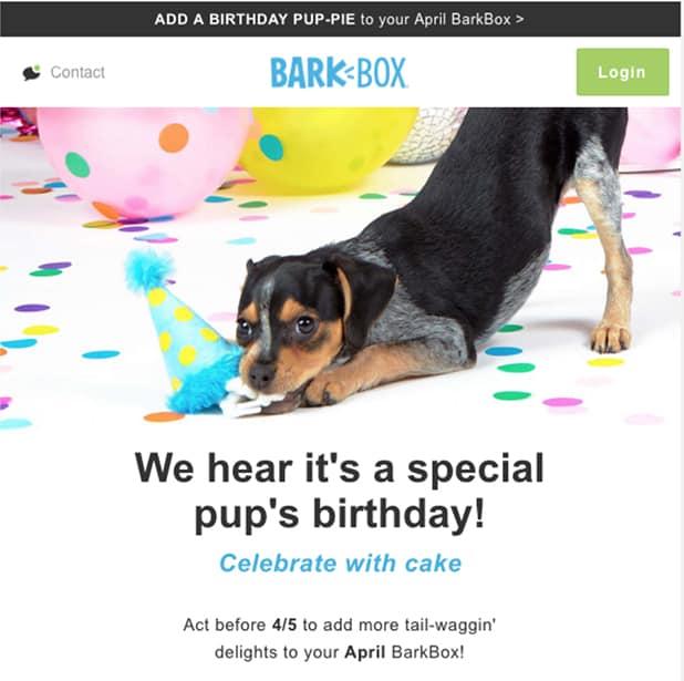 Bark Box Personalization