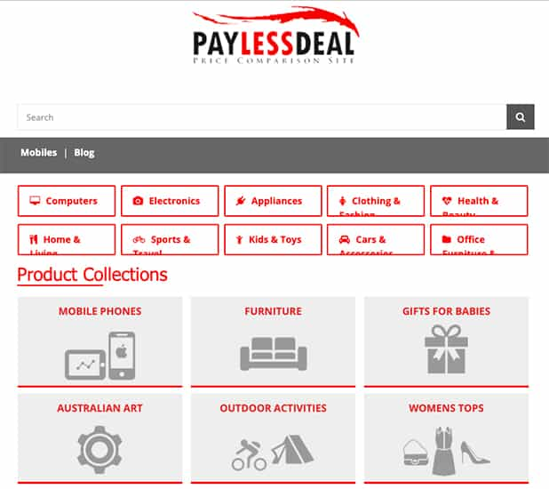 Pay Less Deal Comparison Shopping Engine