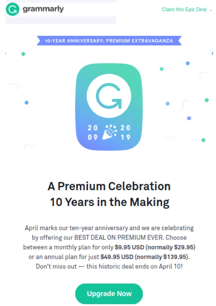 Grammarly Promotions