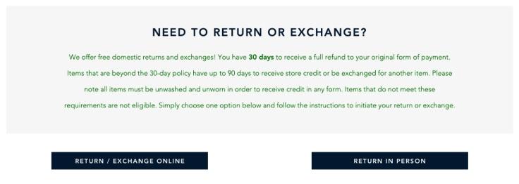 Return or Exchange